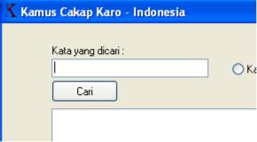Project Kamus Bahasa Karo Online dan Offline