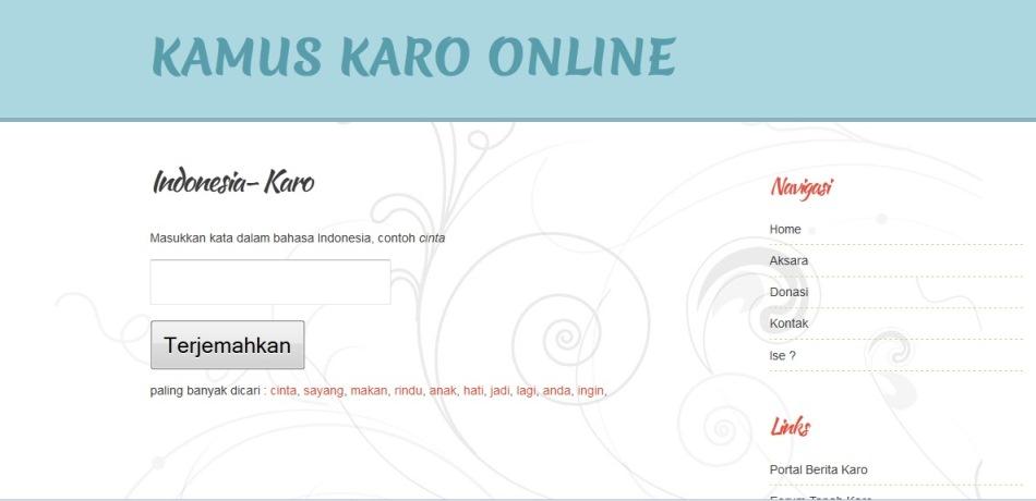 kamus karo online