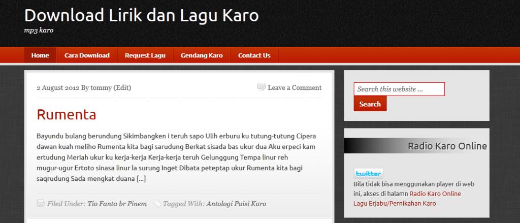 situs download lagu karo