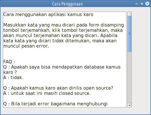 cara penggunaan kamus karo offline