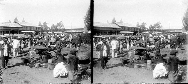 Markt te Berastagi, Karo, Noord-Sumatra