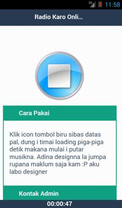 Aplikasi Android Radio Karo Online